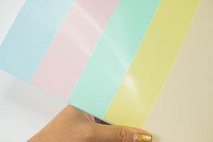 Kit cartulinas 12x12 Johanna Rivero Textura líneas colores pastel