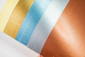 Kit cartulinas 12x12 Johanna Rivero Textura tela colores metálicos