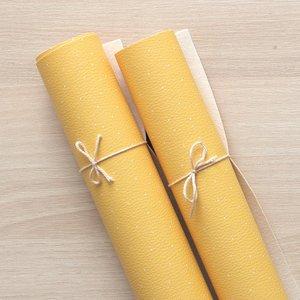 Falso cuero impreso Kimidori Colors Puntitos amarillos