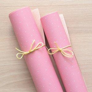 Falso cuero impreso Kimidori Colors Puntitos Rosa claro