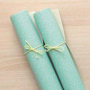 Falso cuero impreso Kimidori Colors Lluvia Mint