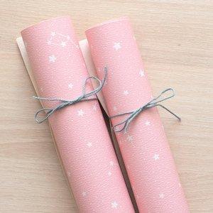 Falso cuero impreso Kimidori Colors Constelación rosa