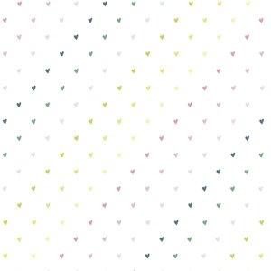 Falso cuero impreso Kimidori Colors corazones de colores