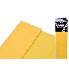 Papel Crespón Amarillo 50cmx2m