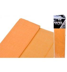 Papel Crespón Naranja claro 50cmx2m