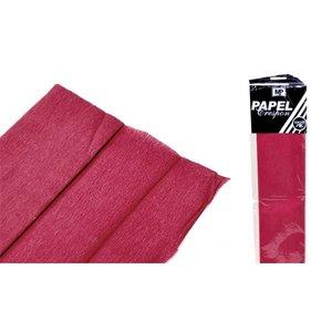 Papel Crespón Rojo Oscuro 50cmx2m