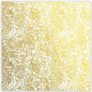 "Acetato 8""x8"" Gold Foil Shine Bright Be Joyful"