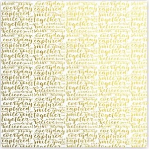 "Vellum 8""x8"" Gold Foil Shine Bright Trustworthy"