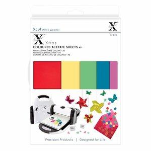 Hojas adhesivas A5 Acetato de colores
