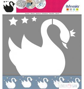 "Máscara 12""x12"" Cisne Lovely Swan"