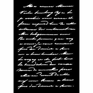 Máscara Carabelle A6 Texte Manuscrit