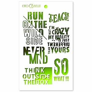 """Ciao Bella Texture Stencil 5""""x8"""" Think Outside the Box"""