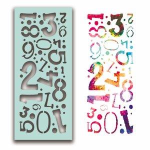 Máscara PolkaDoodles 10x21 cm Number Collage