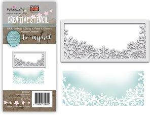 Máscara PolkaDoodles 10x21 cm Snowflake Flurry Layering