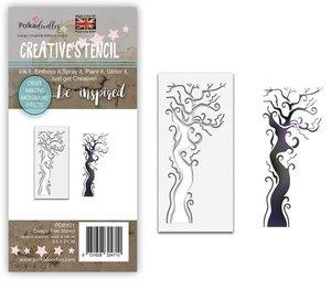 Máscara PolkaDoodles 10x21 cm Creepy Tree