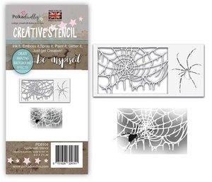 Máscara PolkaDoodles 10x21 cm Spider Web