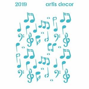 Máscara Artis Decor 15x20 cm Notas Musicales