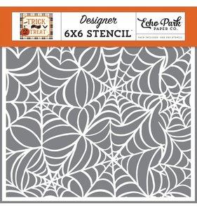 Máscara 6x6 Echo Park Spooky Spiderweb