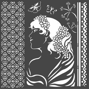 Máscara Stampería 18x18 cm Hortensia Lady