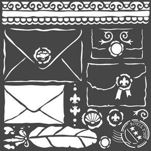 Máscara Stampería 18x18 cm Princess Letters