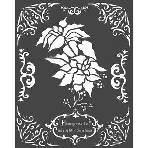 Máscara Stampería 20x25 cm Winter Tales Poinsettia