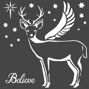 Máscara Stampería 18x18 cm Christmas Deer
