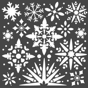 Máscara Stampería 18x18 cm Christmas Snowflakes