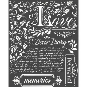 Máscara Stampería 20x25 cm Calligraphy Dear Diary