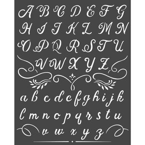 Máscara Stampería 20x25 cm Calligraphy Alphabet