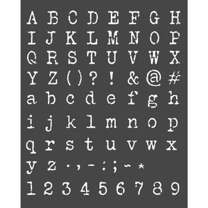 Máscara Stampería 20x25 cm Calligraphy Alphabet & Numbers