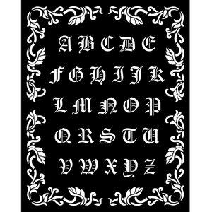 Máscara 20x25 cm Stampería Sleeping Beauty Alphabet