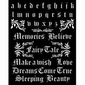 Máscara 20x25 cm Stampería Sleeping Beauty Quotes