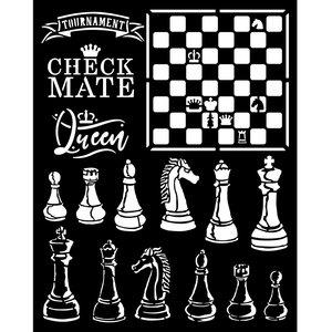 Máscara 20x25 cm Stampería Alice Checkmate