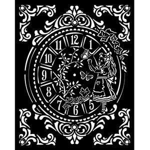 Máscara 20x25 cm Stampería Alice Clock
