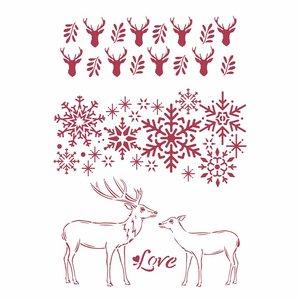Máscara A4 Stampería Winter Tales Love