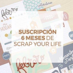 SUSCRIPCIÓN SEMESTRAL x6 meses SCRAP YOUR LIFE