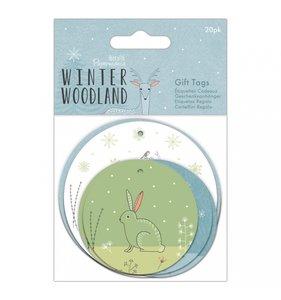 Etiquetas circulares Winter Woodland