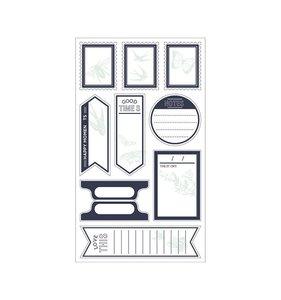 Etiquetas adhesivas Typecast Mint & Black