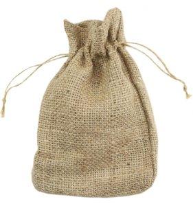 Bolsa de yute natural 13,5 x 11,5 cm