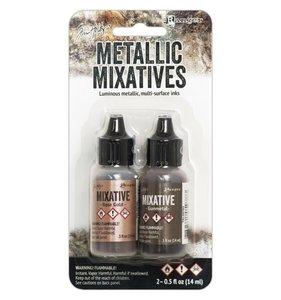 Alcohol Ink Metallic Set Rose Gold & Gunmetal