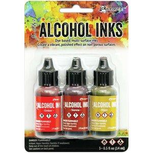 Alcohol Ink Set Orange Yellow Spectrum