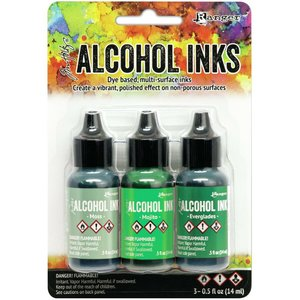 Alcohol Ink Set Mint Green Spectrum