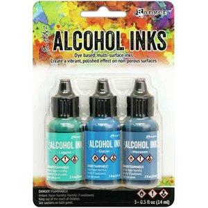 Alcohol Ink Set Teal Blue Spectrum