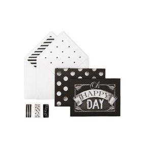 Set de tarjetas Happy Day Chalk