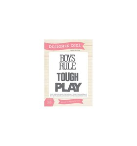 Troquel Boys Rule Wood