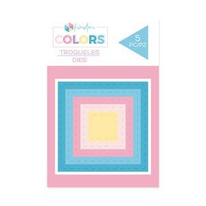 Troqueles básicos Kimidori Colors Mini Cuadrados Cosidos