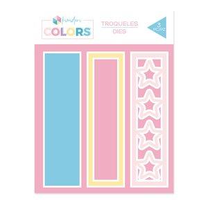 """Troqueles Kimidori Colors Lomo Shaker 6"""" Estrellas"""