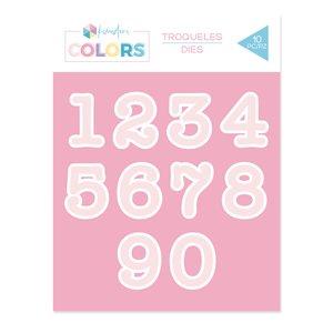Troqueles Kimidori Colors Números Máquina de escribir