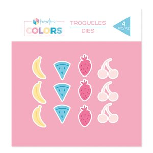 Troquel Kimidori Colors Confetti Frutas