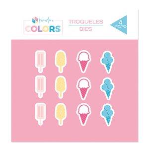 Troquel Kimidori Colors Confetti Helados